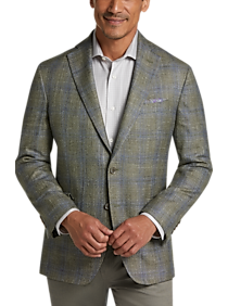 Mens Sport Coats Starting at $79, Sport Coats - Joseph Abboud Olive Plaid Modern Fit Sport Coat - Men's Wearhouse