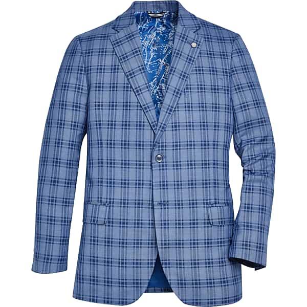 1960s Mens Suits | Mod, Skinny, Nehru Nautica Mens Modern Fit Sport Coat Blue Plaid - Size 46 Regular $99.99 AT vintagedancer.com