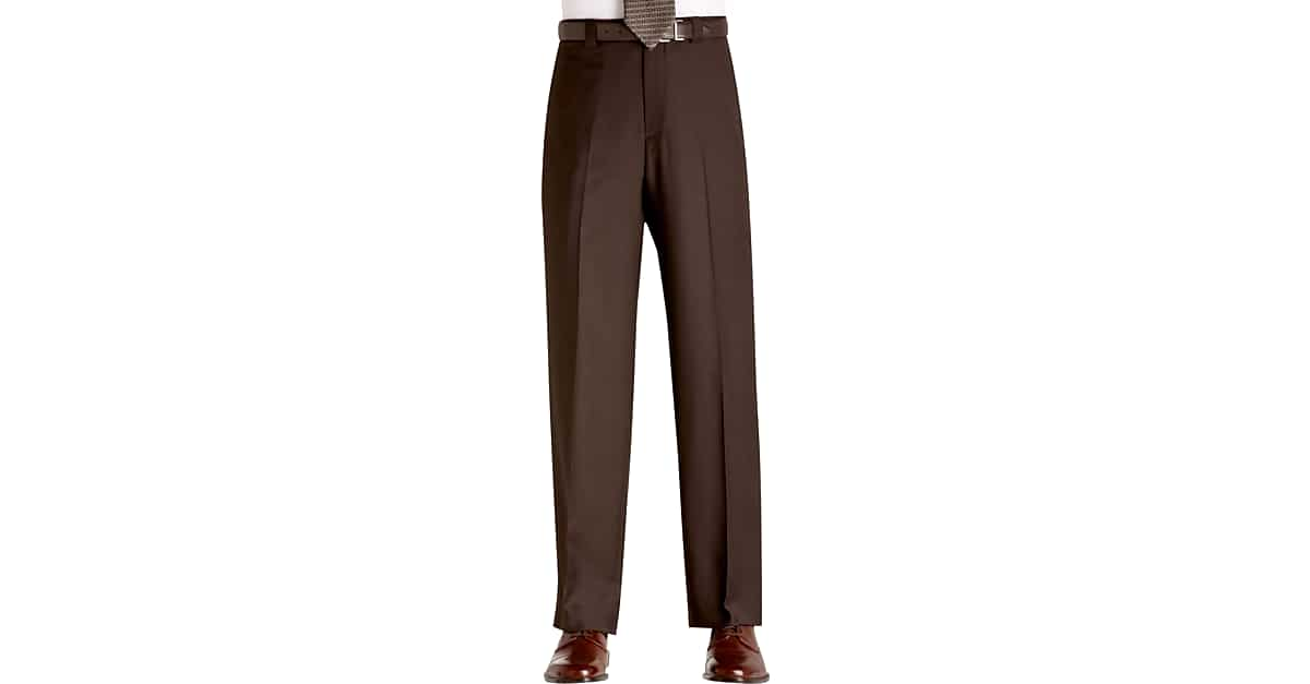Joseph Feiss Gold Dress Pants Brown Men S Pants Men S Wearhouse