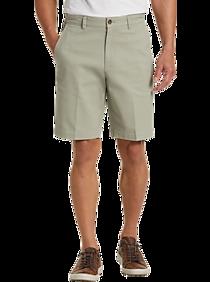 Mens Pants - Joseph Abboud Faded Sage Modern Fit Shorts - Men's Wearhouse
