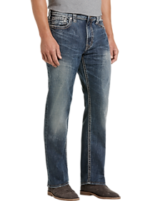 Mens Silver Jeans Co., Brands - Silver Jeans Co. Grayson Dark Wash Classic Fit Jeans - Men's Wearhouse