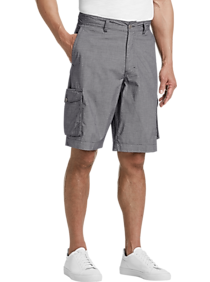 Joseph Abboud Gray Check Modern Fit Cargo Shorts