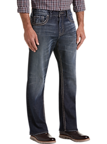 Mens Silver Jeans Co., Brands - Silver Jeans Co. Gordie Dark Blue Wash Relaxed Fit Jeans - Men's Wearhouse