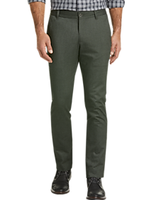 Joseph Abboud Green Modern Fit Casual Pants
