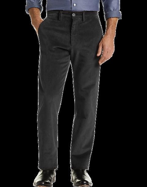 Joseph Abboud Charcoal Corduroy Modern Fit Casual Pants - Men's Pants |  Men's Wearhouse