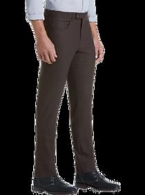 Mens Pants & Shorts, Big & Tall - JOE Joseph Abboud Dark Brown Slim Fit Dress Pants - Men's Wearhouse