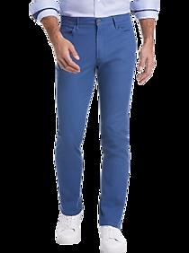 Mens $29.99 Dress & Casual Pants, Pants - Joseph Abboud Blue Slim Fit Casual Pants - Men's Wearhouse
