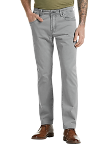Liverpool Los Angeles Light Gray Slim Fit Casual Pants