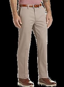 Haggar Iron Free Premium Tan Straight Fit Khaki Casual Pants