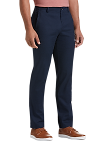 Mens Casual Pants & Jeans, Polished Casual - Joseph Abboud Dark Blue Slim Fit Chino - Men's Wearhouse
