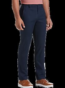 Mens Casual Pants, Pants - Joseph Abboud Dark Blue Slim Fit Chino - Men's Wearhouse