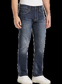 Mens New Arrivals, Suits - Joseph Abboud Saltwater Dark Blue Wash Slim Fit Jeans - Men's Wearhouse