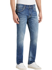 Mens New Arrivals, Suits - Joseph Abboud Blue Medium Wash Slim Fit Jeans - Men's Wearhouse