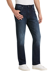 Mens New Arrivals, Suits - Joseph Abboud Dark Coal Blue Wash Slim Fit Jeans - Men's Wearhouse