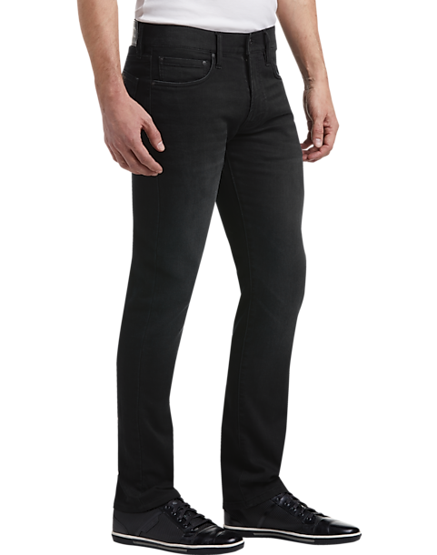 Joseph Abboud Black French Terry Extreme Slim Fit Men's Jeans