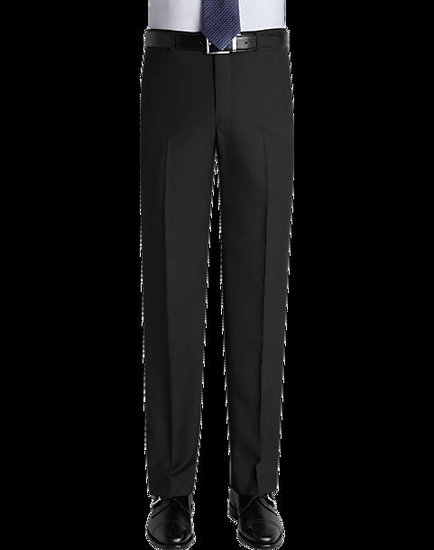 Pronto Uomo Black Slim Fit Casual Pants (Multi Color)
