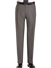 Joseph Abboud Gray Sharkskin Pleated Modern Fit Pleated Suit Separate Dress Pants