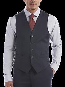Mens Vests, Suits - Joseph Abboud Navy Modern Fit Suit Separates Vest - Men's Wearhouse