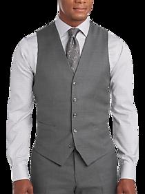 Mens Vests, Suits - Joseph Abboud Gray Modern Fit Suit Separates Vest - Men's Wearhouse