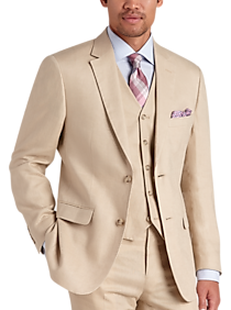 1960s Mens Suits | Mod, Skinny, Nehru Pronto Uomo Platinum Modern Fit Suit Separates Coat Tan $39.99 AT vintagedancer.com