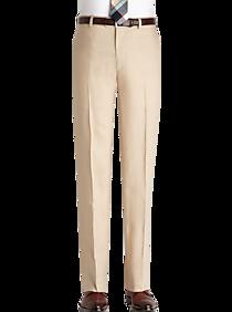 60s – 70s Mens Bell Bottom Jeans, Flares, Disco Pants Pronto Uomo Platinum Modern Fit Suit Separates Dress Pant Tan $19.99 AT vintagedancer.com