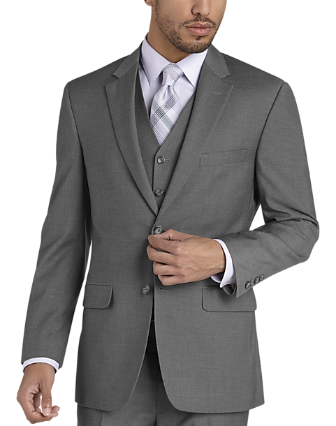 Pronto Uomo Gray Modern Fit Vested Suit
