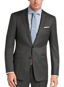 Mens Extra 30% Off Clearance, Suits - Calvin Klein X-Fit Gray Tic Slim Fit Suit - Men's Wearhouse
