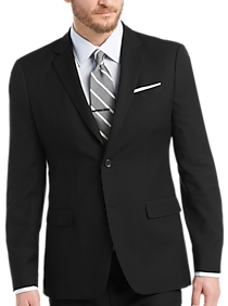 Mens Home - Egara Orange Extreme Slim Fit Suit, Black - Men's Wearhouse