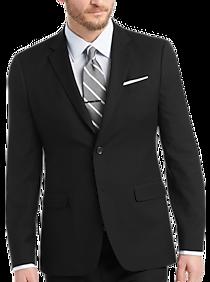 Egara Orange Extreme Slim Fit Suit, Black