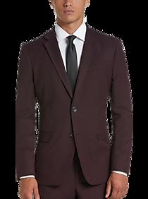 Egara Orange Burgundy Extreme Slim Fit Suit