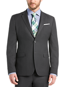 Mens Suits - Egara Orange Extreme Slim Fit Suit, Charcoal - Men's Wearhouse