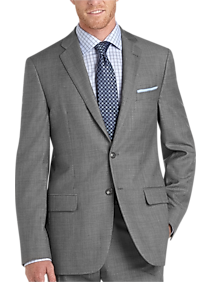 Mens Suits Starting at $89, Clothing - Joseph Abboud Sharkskin Slim Fit Suit - Men's Wearhouse