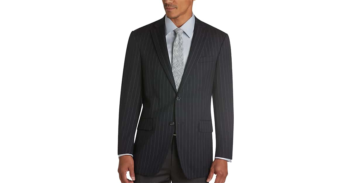 Austin Reed Navy Stripe Modern Fit Suit Separates Coat Men S Sport Coats Men S Wearhouse
