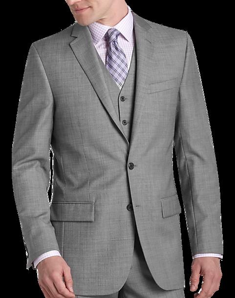 Egara Gray Sharkskin Slim Fit Suit Separates Coat - Men's Suits | Men's  Wearhouse