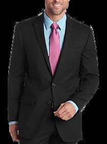 Egara Black Slim Fit Suit Separates Coat