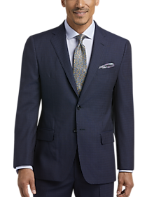 Mens Big & Tall, Clearance - Joseph Abboud Navy Check Slim Fit Suit - Men's Wearhouse
