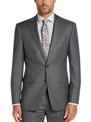Calvin Klein X-Fit Gray Sharkskin Slim Fit Suit