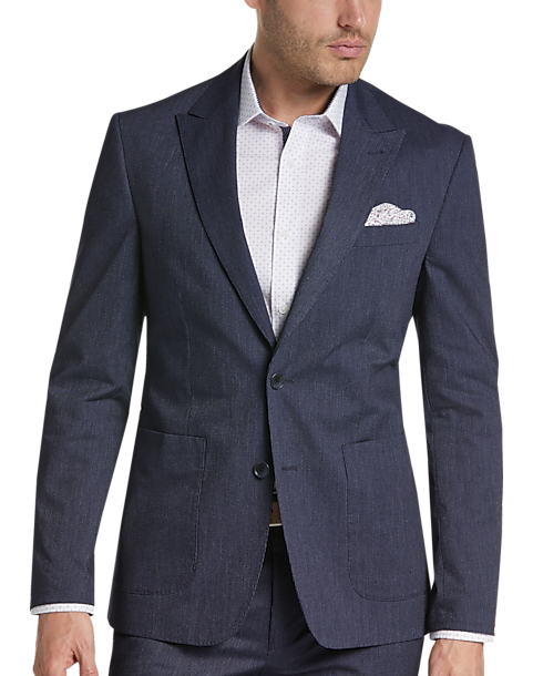 Joe Joseph Abboud Indigo Stripe Slim Fit Seersucker Suit Separate