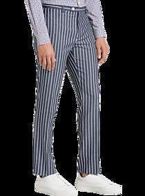 60s – 70s Mens Bell Bottom Jeans, Flares, Disco Pants Paisley  Gray Slim Fit Suit Separates Dress Pants Denim Blue Stripe $24.99 AT vintagedancer.com