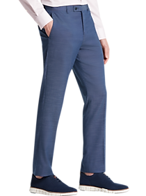 1960s Men's Clothing Paisley  Gray Slim Fit Suit Separates Dress Pants Blue Chambray $39.99 AT vintagedancer.com