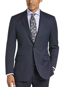 Mens Suits, Big & Tall - Joseph Abboud Dark Blue Stripe Modern Fit Suit - Men's Wearhouse
