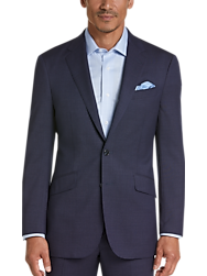 Joseph Abboud Dark Blue Tic Modern Fit Suit