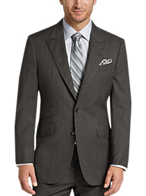 Mens Suits, Big & Tall - Joseph Abboud Gray Multistripe Modern Fit Suit - Men's Wearhouse