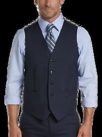 Mens Vest, Polished Casual - Joseph Abboud Blue Tic Modern Fit Suit Separates Vest - Men's Wearhouse