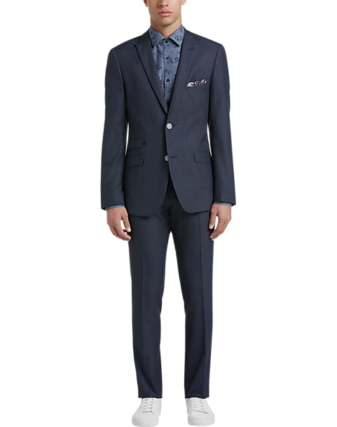 Paisley & Gray Slim Fit Suit Separates Coat (Navy Sharkskin)