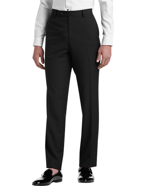Paisley & Gray Slim Fit Suit Separates Dress Pants (Black & White Houndstooth Piping)