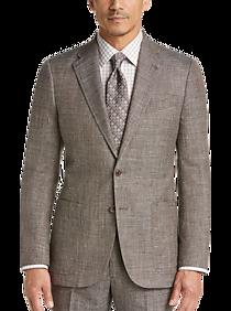 Joseph Abboud Limited Edition Brown Tic Slim Fit Suit