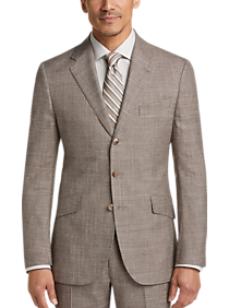 Mens Suits, Big & Tall - Joseph Abboud Limited Edition Tan Plaid Slim Fit Suit - Men's Wearhouse