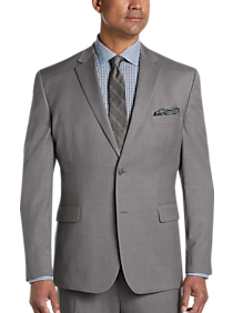 Mens Suits - Pronto Uomo Gray Tic Modern Fit Suit, Big & Tall - Men's Wearhouse
