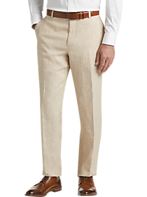 JOE Joseph Abboud Tan Chambray Slim Fit Suit Separates Dress Pants